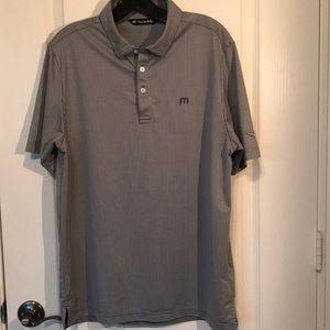 Travis Mathew_Mens Golf Shirt_M_Grey/White